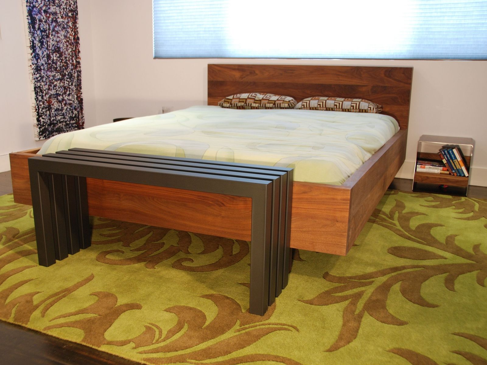 Custom Made Solid Walnut Platform Bed Hand Crafted From American Black