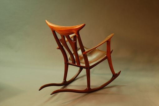 Custom Made Sapele Rocking Chair