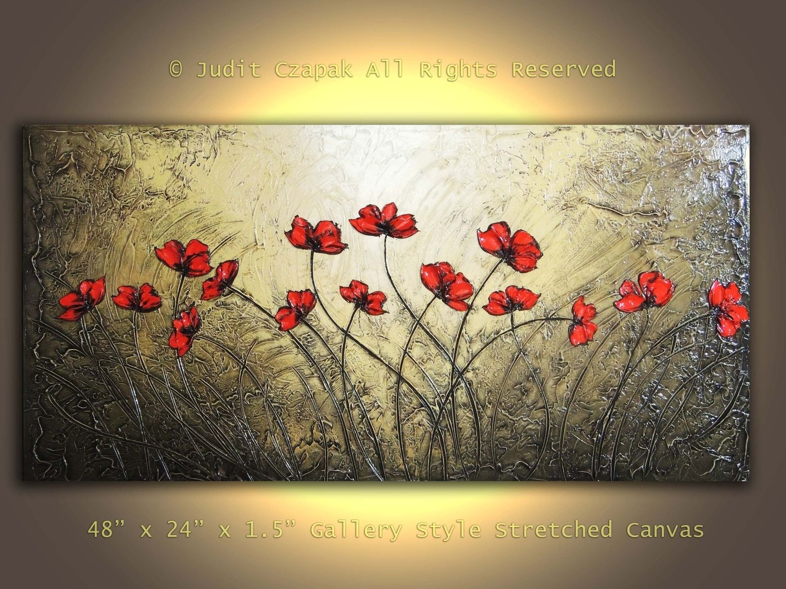 Hand Made Original Modern Textured Painting On Canvas by Judit
