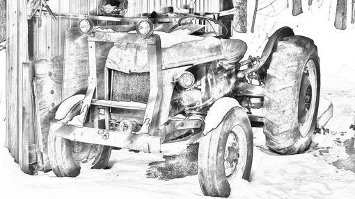 Custom Made Dad's Tractor
