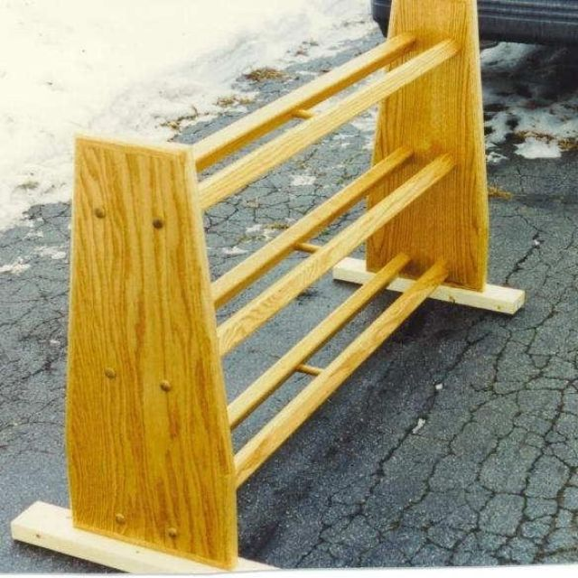 Hand Made Bowling Ball Rack Oak By Decarlo Woodworks CustomMade Adorable Bowling Ball Display Stand