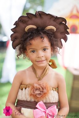 Custom Made Tan And Brown Felt Lion Mane For Brave Lil' Lion Costume