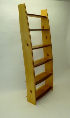 Custom Made Bow-Front Leaning Bookcase