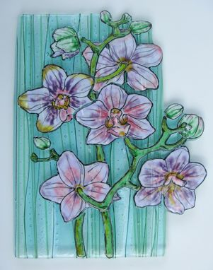 Custom Made Phaleanopsis - Glass Fusing Artwork