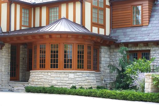 Custom Made Turret Room Exterior Curved Trim