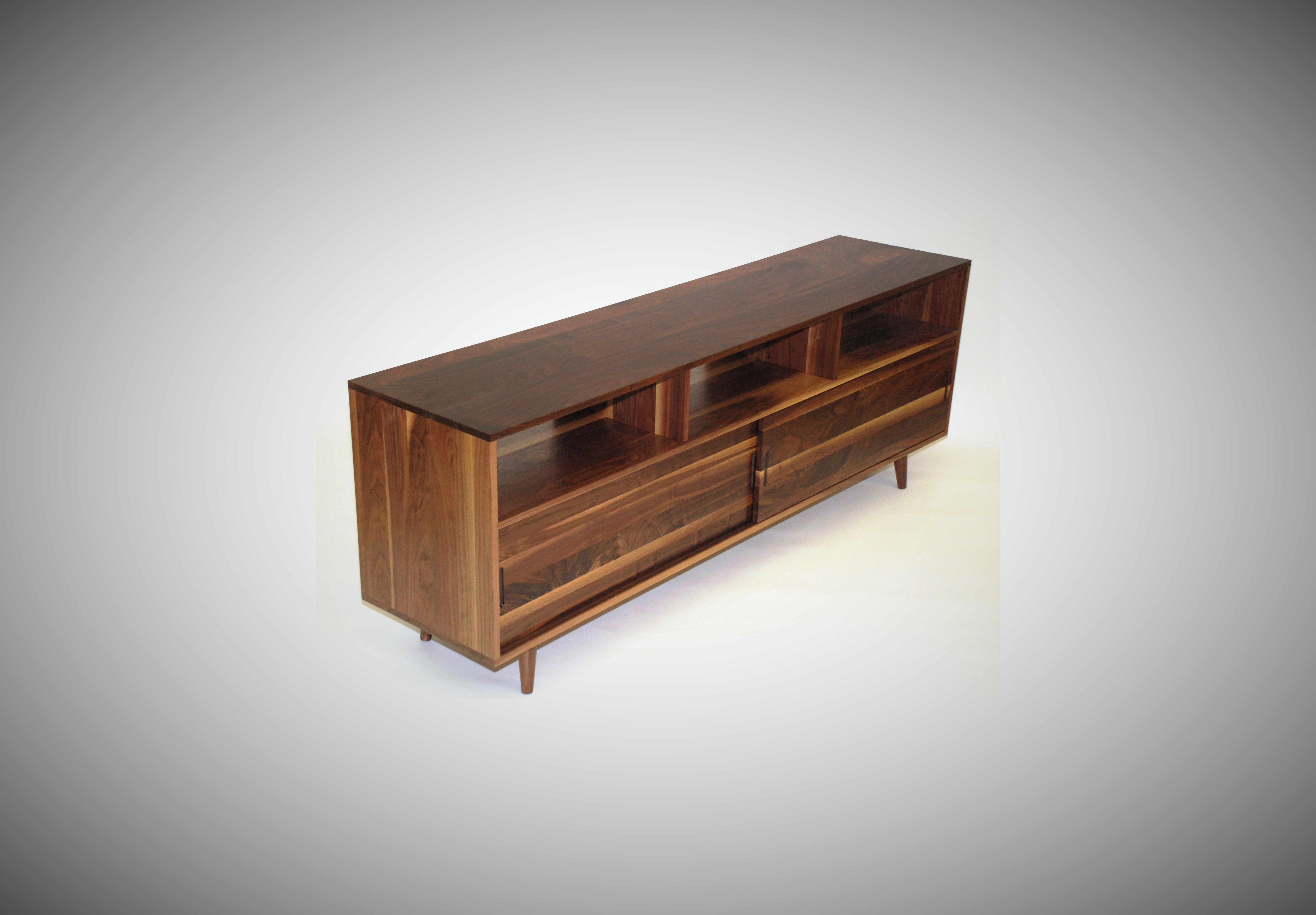 Buy A Custom Made Mid Century Media Console Made To Order