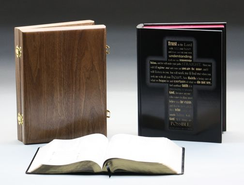 Custom Made Laser Engraved Bible Boxes
