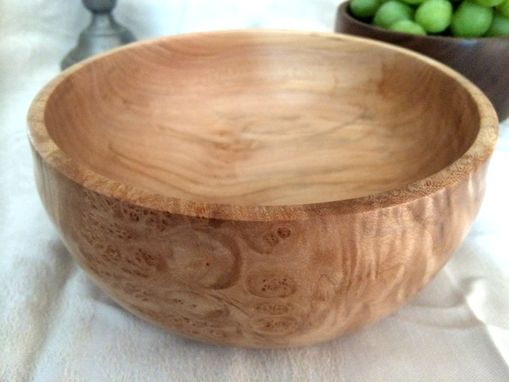 Custom Made Beautiful Highly Figured Maple Burl Hand Turned Bowl