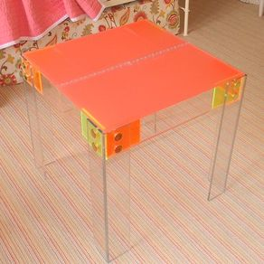 hand crafted acrylic entryway console table in 1 5 by