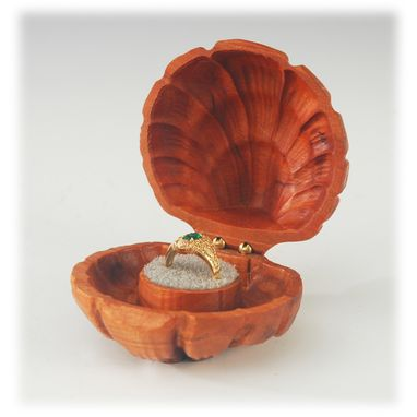 Custom Made Carved Ring Box