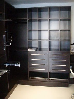 Custom Made Espresso Melamine Closet (Wenge Color)