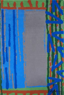 "Custom Made ""Jazz E"" Inspired By Israeli Artist, David Gerstein- Custom Rugs Collection By Allure Rug."
