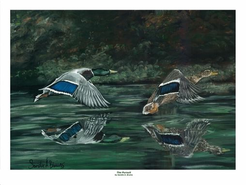 Custom Made Special Request Commissioned Painting (Wildlife) Ducks