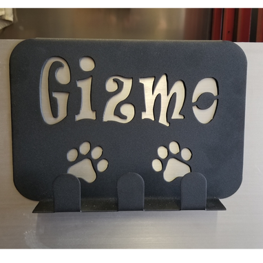 Custom Made Custom Name Wall Leash Holder