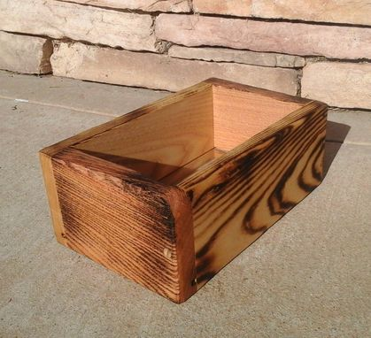 Custom Made Reclaimed Solid Wood Medium Sized Succulent Box