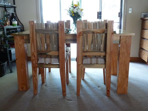 Custom Made Dining Roon Table And Chairs