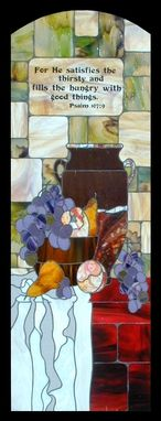 Custom Made Stained Glass In A Pantry Door