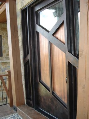 Custom Made Mountain Contemporary Door