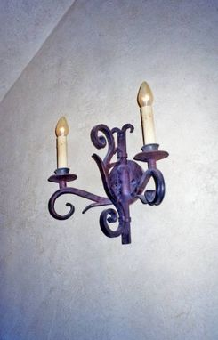Custom Made Black Smithed Sconces, Fabricated Metal Sculpture Lighting.