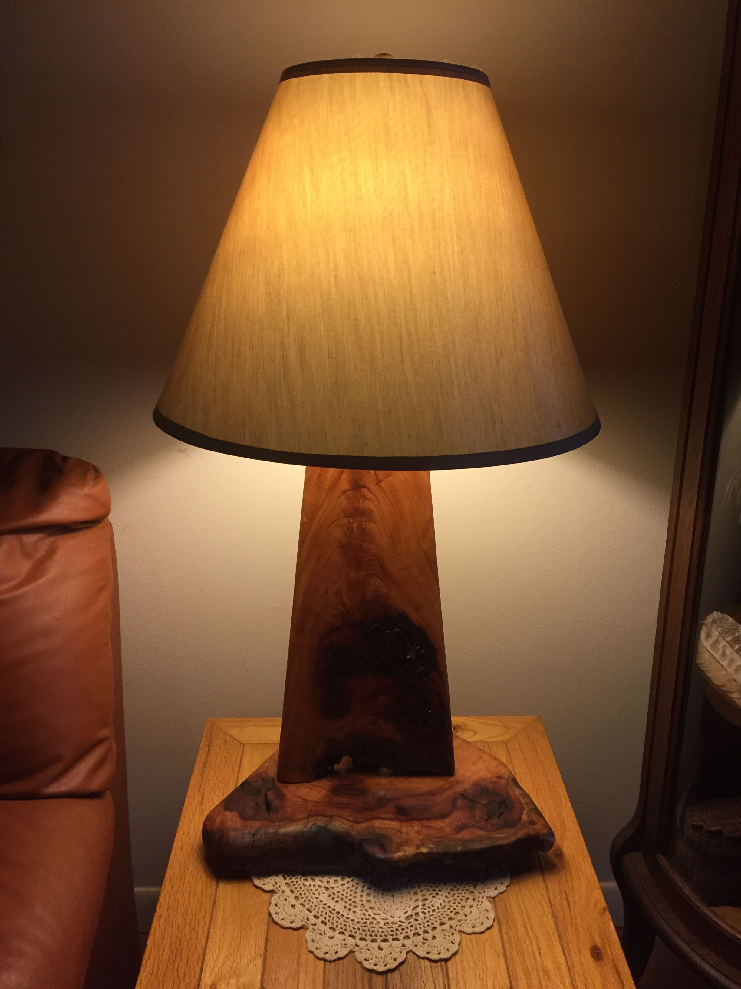 Hand crafted custom table lamps from exotic woods by on the flats custom made custom table lamps from exotic woods geotapseo Images