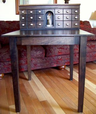 Custom Made Desk With Drawers For Craft Table