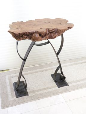 Custom Made Prairie-Style Urban Industrial Accent Or Art Table