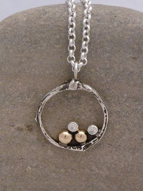 Custom Made Family Tree Necklace In Silver And 14k Gold