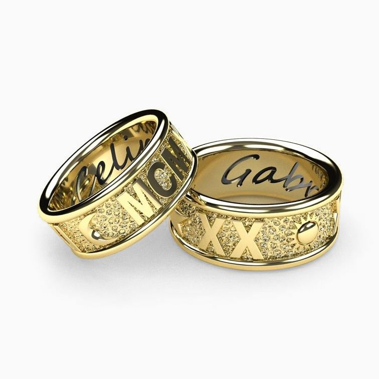 Roman Numeral Wedding Bands: Buy A Handmade Personalized Roman Numeral 14k Gold Wedding