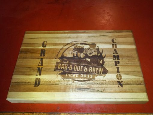 Custom Made Personalized Cutting Boards / Serving Trays Engraved With Your Logo