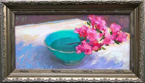 Custom Made Sunlit Blossom (Azaleas) Oil Painting