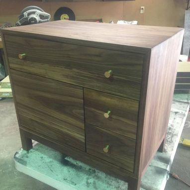 Custom Made Solid Walnut Night Stand/Cabinet