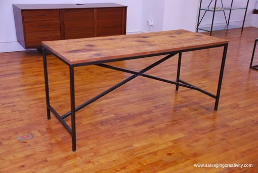 Custom Made Wood, Glass, And Steel Tables