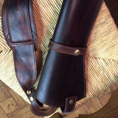 Custom Made X-Large Frame Scoped Revolver Holster, Hunting, Bandelero/Shoulder Style
