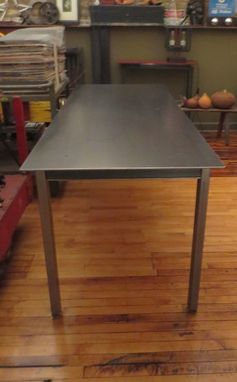 Custom Made Simple Steel Dining Table / Console - Industrial