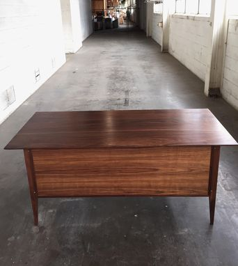 Custom Made Office Desk In Walnut