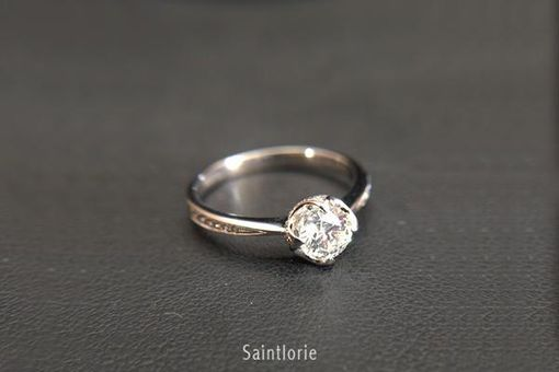 Custom Made 0.3 Carat Diamond Engagement Ring