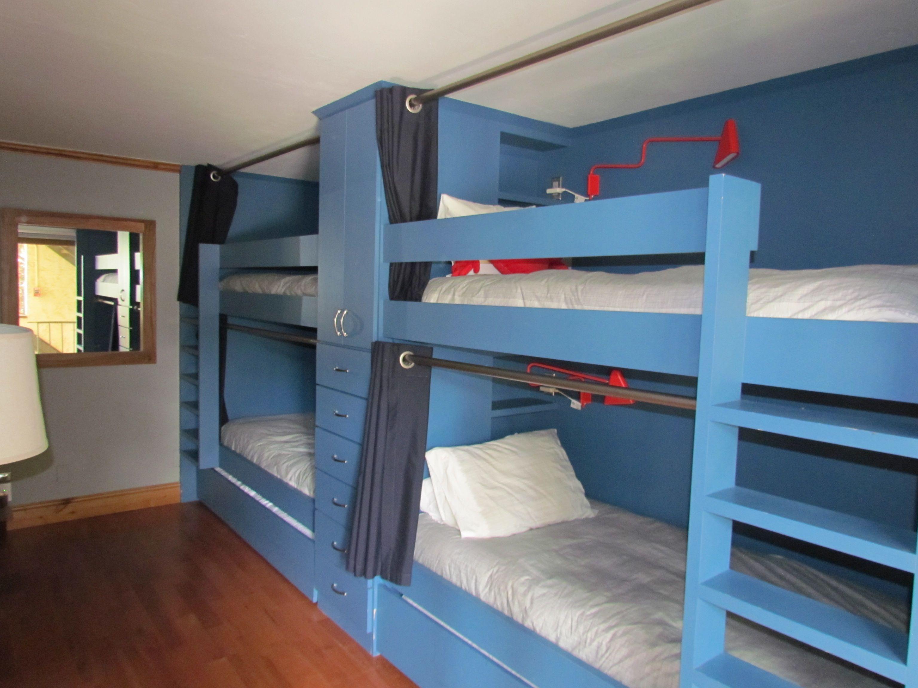 Handmade Custom Built In Bunk Beds By Furniture By Carlisle Llc