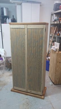 Custom Made Custom Large Storage Cabinet With Adjustable Shelves.