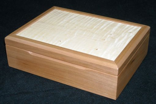 Custom Made Cherry And Curly Maple Jewelry Box