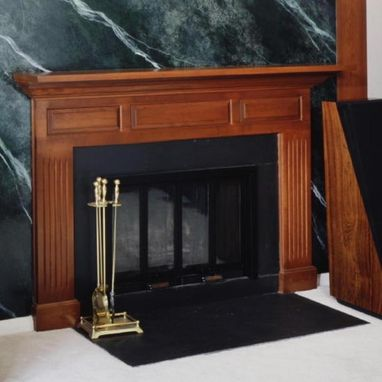 Custom Made Solid Cherry Raised Panel Mantel In Stamford, Ct