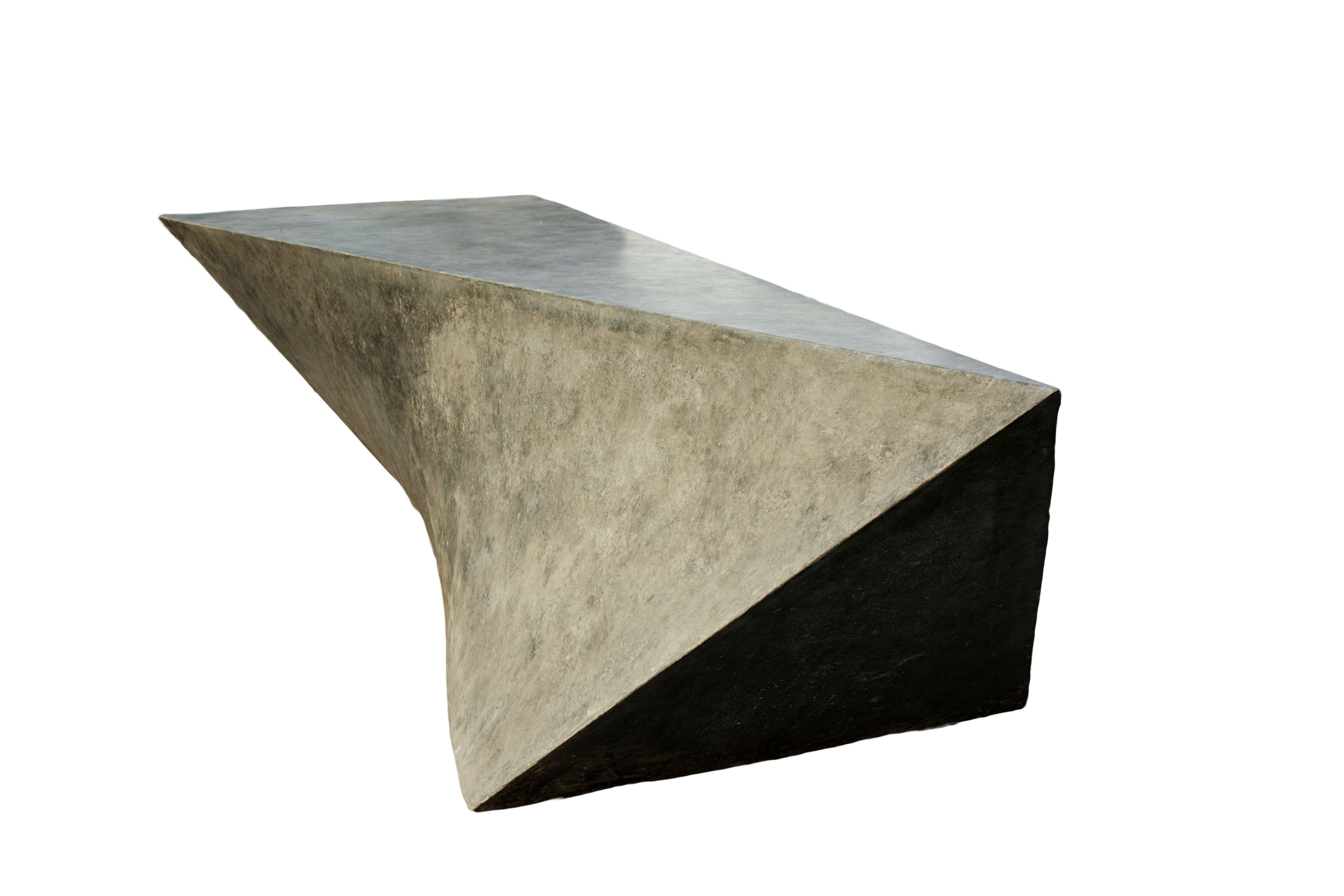 Custom Concrete Geometric Bench By 910 Castings