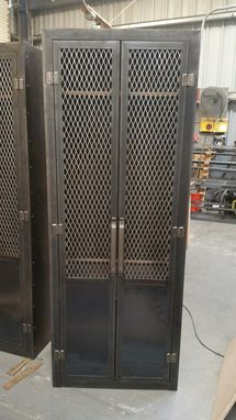 Custom Made Industrial Club Locker #053 • Industrial Style Furniture By Industrial Evolution Furniture Co.