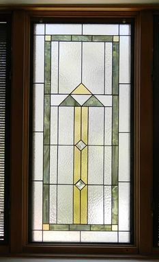 Custom Made Southwest Contemporary Stained Glass Window