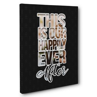 Custom Made This Is Our Happily Ever After Wedding Anniversary Canvas Wall Art