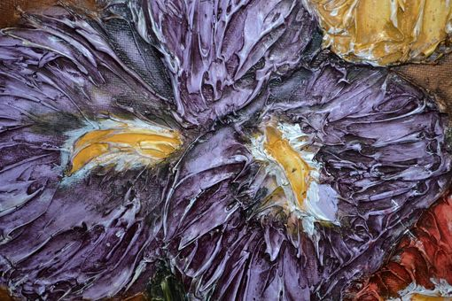 "Custom Made 18x24 Original Modern Textured Contemporary Abstract Painting By Alisha ""Blooming Iris'"""