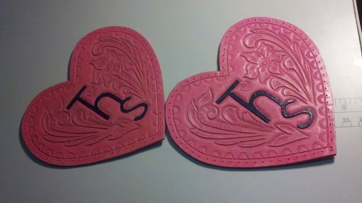 Custom Made Hand-Tooled Leather Appliques