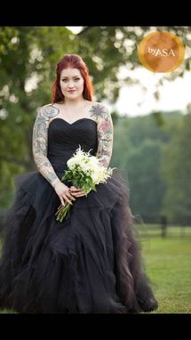 Custom Made Black Wedding Dress