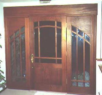 Custom Made Solid Wood Entry Doors