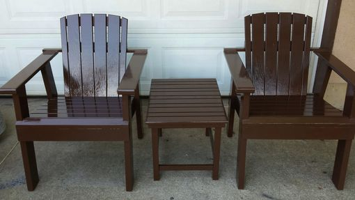 Custom Made Outdoor Chairs And Table Set