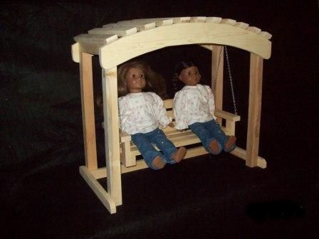 "Custom Made 18"" Doll Arbor Swing"